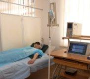 Внутривенная инфузия озонированного физиологического раствора